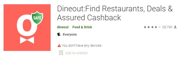 dineout apk, dineout app, dineout app download, playstore