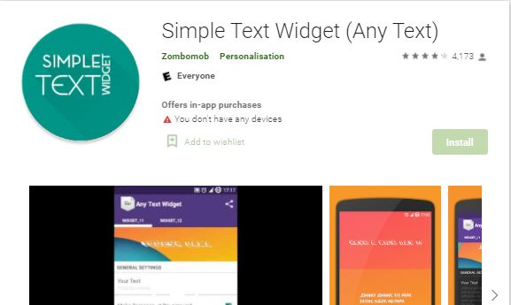 add text to home screen android, android, best text widget android, lates app, minimalistic text, Simple Text Widget Any Text Best Android App, simple text widget pro apk, text message widget android, text widget android,