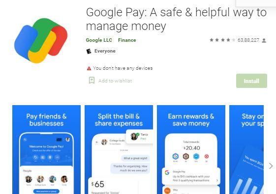 Google pay app download apk
